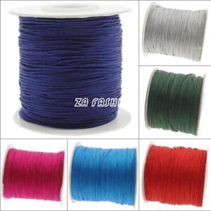 120m-Spool-Nylon-Cord-Thread-Chinese-Knot-Macrame-Beading-DIY-Jewelry-0-5mm-New