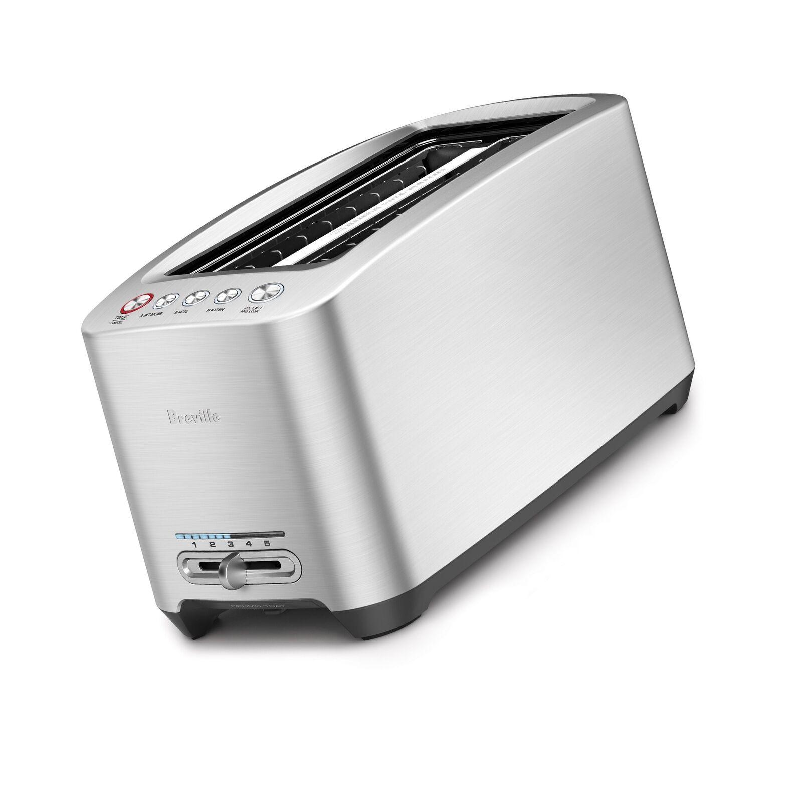 Breville BTA830XL Die-Cast 4-Slice Long Slot Smart Toaster New