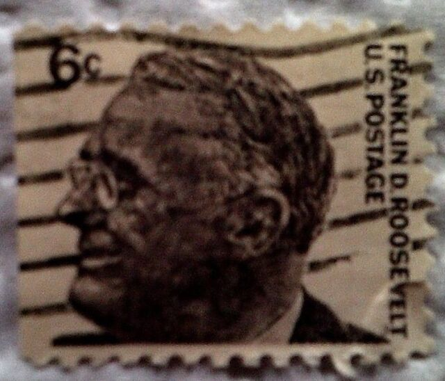 1966 U S Scott 1284 Franklin D Roosevelt One Cancelled 6 Cent Stamp Off