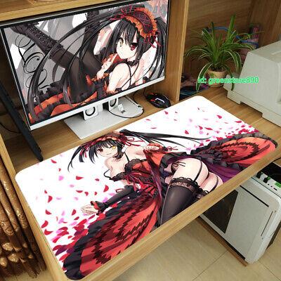 2019 Anime Date A Live Kurumi Tokisaki Mouse Pad PC Gaming Keyboard Play Mat #19