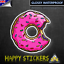 Simpson-Donut-Luggage-Car-Skateboard-Scooter-Guitar-Laptop-Decal-Vinyl-Sticker thumbnail 1