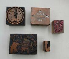New Listingvintage Wood Amp Metal Printing Block Stamp Advertising Newspaper Press