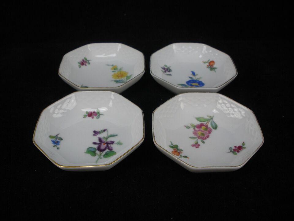 Fire Små Saksisk Blomst Skåle, Bing Og Grøndahl