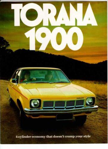 1976 HOLDEN LX TORANA 1900 6 Page Brochure OPEL REKORD MANTA 1.9 Litre Engine
