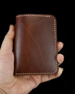 NEW-4-Card-Handmade-Men-039-s-Bifold-Leather-Wallet