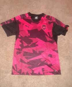 reputable site 36644 6488f Details about Puma Arsenal Training Jersey Black & Pink Men's XL