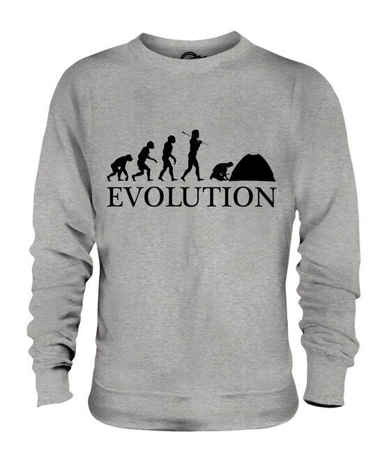 CAMPING EVOLUTION DES MENSCHEN MENSCHEN MENSCHEN UNISEX SWEATER PULLOVER PULLI HERREN DAMEN | Deutschland  | Modisch  | Glücklicher Startpunkt  009069