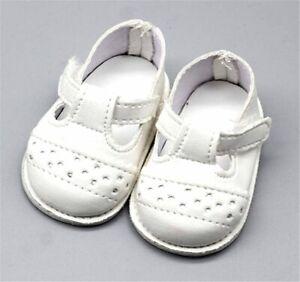 Puppen-Schuhe-Sommer-Schuhe-Stegschuhe-weiss-6-5-cm-Sohlenlaenge-Nr-274
