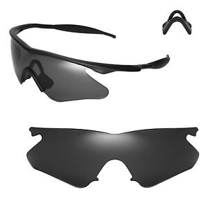 image is loading new walleva black replacement lenses for oakley m