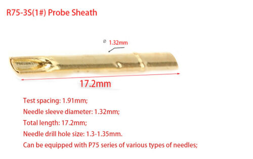 Dia 0.68mm-2.36mm Multiple Types Spring Test Probe Pogo Pin Receptacle Tool Set