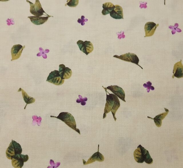 """1 yd 28/"""" Chateau by Tina Higgins Quilting Treasures Lilac Petals Floral Lavender"""