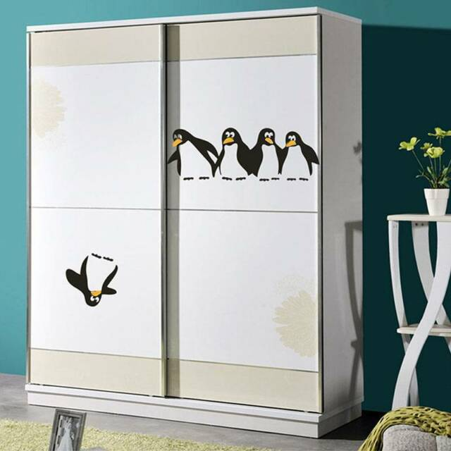 Wall Sticker Penguin Mural Kitchen Removable Fridge Baby Nursery Home Decals