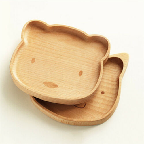 Cute Solid Wood Serving Tray Tea Fruit Food Snack Dishes Platter Plate Wooden