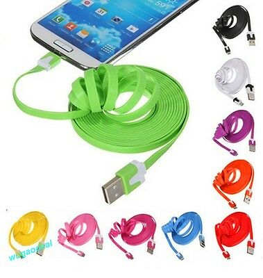 Hot Sale Flat Micro USB Data Sync Cable Charger for Android Samsung HTC SONY LG