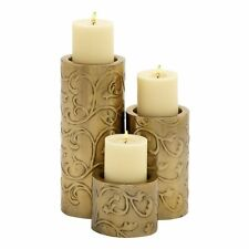 Woodland Imports 24121 Too Beautiful Metal Candle Holders (set of 3)