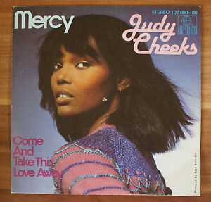 Single-7-034-VINYL-Judy-Cheeks-Mercy-come-and-take-This-Love-Away-102690-100
