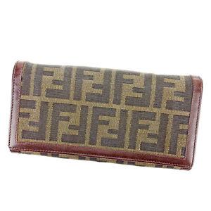 21831b4b3040 Fendi Wallet Purse Zucca Green Black Woman unisex Authentic Used ...