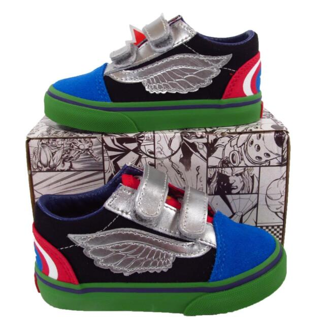 VANS Marvel Avengers Old Skool Skateboard Shoes Toddler Size 4.5