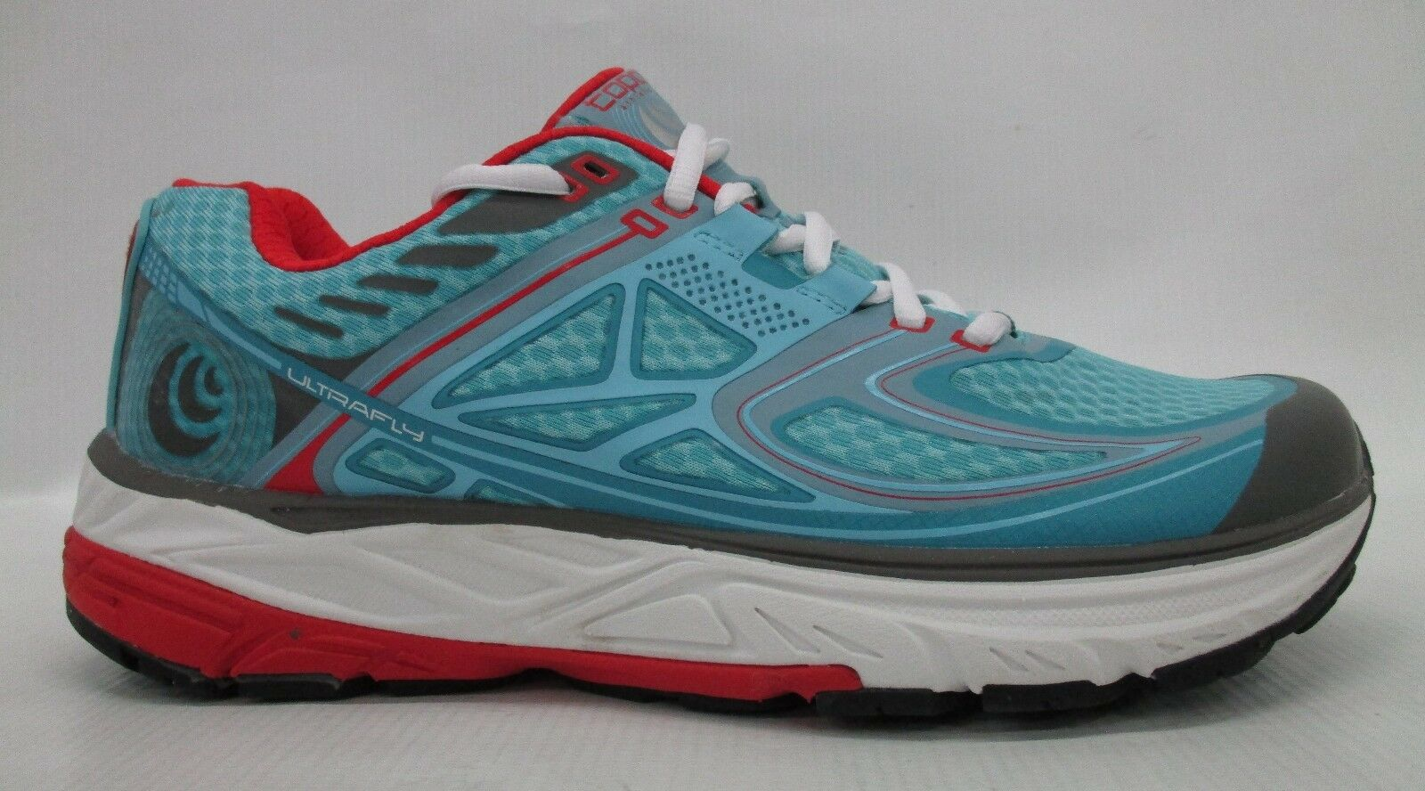 Topo Athletic Donna Ultrafly Running Shoes W016 Ice/Red Size 10