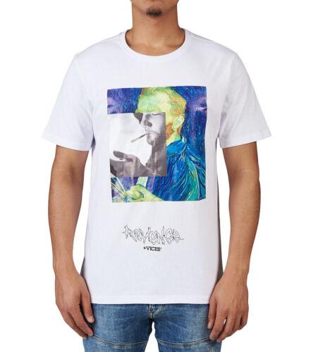 "Hudson Outerwear White /""Revenge Vices Impressionism/"" T-Shirt"