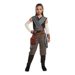 Girl-039-s-Disney-Star-Wars-The-Last-Jedi-Rey-Costume-Jumpsuit-Child-S-M-L