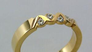 Ring-mit-4-DIAMANTEN-in-Gold-585-ooo