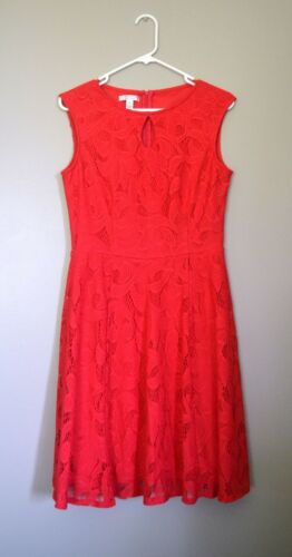 London Style Collection Dress, Size 10, Pink Lace