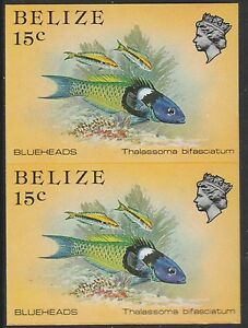 Belize (1748) - 1984 Marine Life 15c IMPERF PAIR unmounted mint