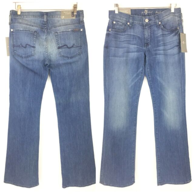 386229b3498e13 7 for All Mankind Womens Boot Cut Jeans Size 28 Distressed for sale ...