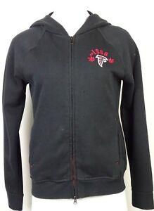 Atlanta-Falcons-Touch-by-Alyssa-Milano-Women-039-s-Full-Zip-Black-Hoodie-NFL-M