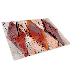 Retro Blue Orange Glass Chopping Board Kitchen Worktop Saver Protector