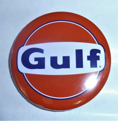 SUPERBE Magnet Aimant Frigo Logo GULF Diamètre 56 mm Neuf Emballé