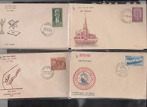India-First-Day-Covers-100-Different-with-Stamps-Rs-1200-Lowest-Priced