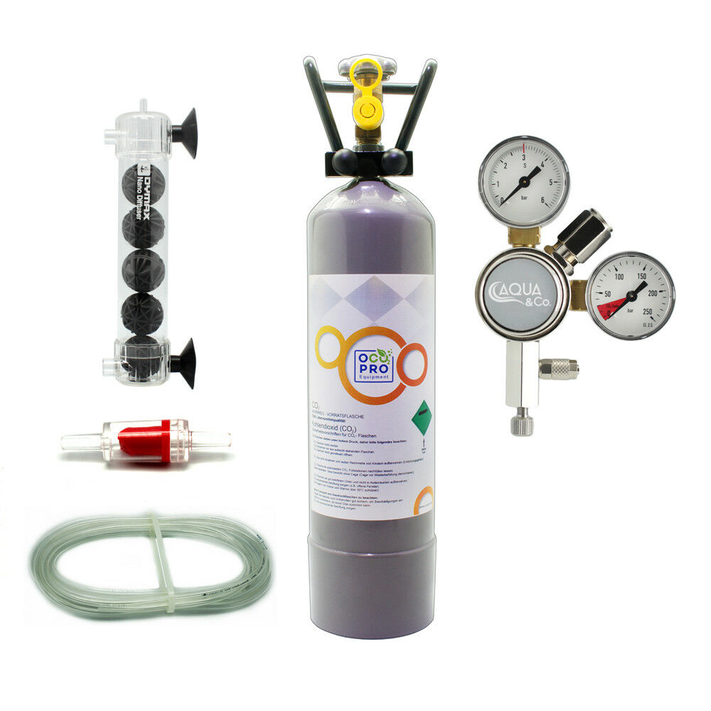 Aqua & Co Classic m301 co2 Impianto Set completo con con con 500g2kg flacone fino a 300l 0912a3
