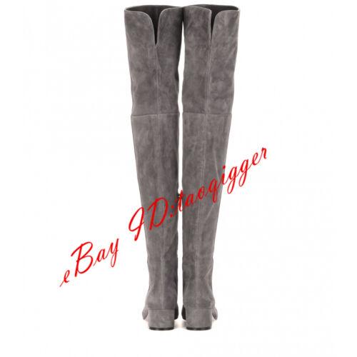 Sexy Overkneestiefel Stretch Damen stiefel Blockabsatz 43 42 Boots Neu Wildleder 8OPynNw0vm