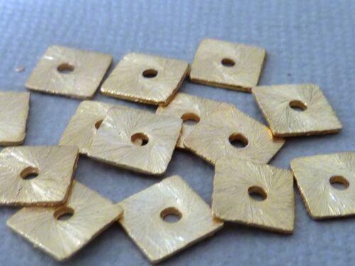 Quadrat Scheibe Spacer Zwischenteil 6,5 mm Kupfer gold gebürstet Auswahl 2646