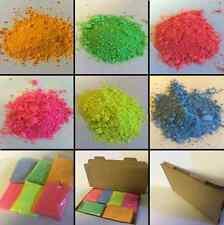 6 X 250gm polvo fluorescente Pintura Recarga / red-pink-yellow-blue-green-orange