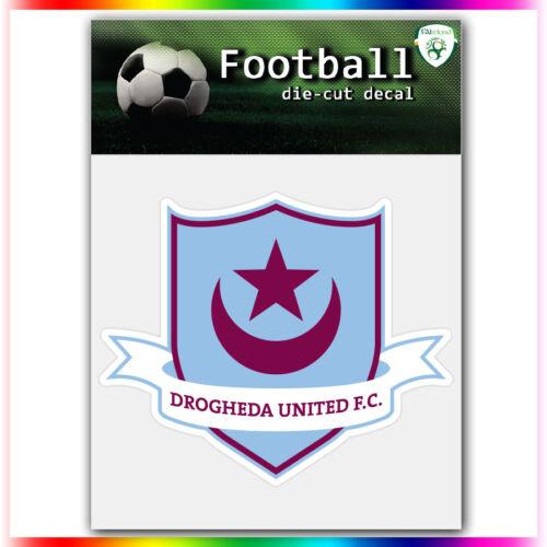 "Drogheda United FC UEFA Die Cut Vinyl Sticker Car Bumper Window 3.4/""x4/"""
