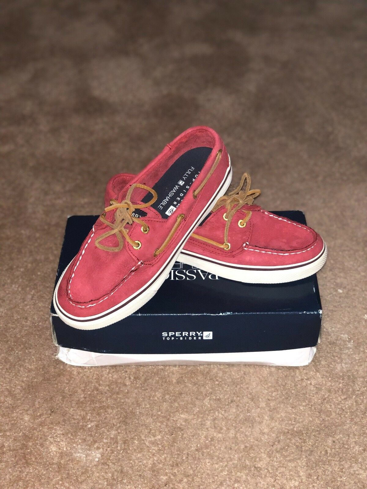 New with with with box Womens Sperry Top Sider Size 5.5 M Bahama Red 85ef7f