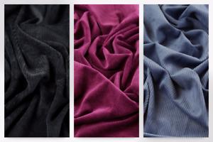 Plush-Noir-M Peluche Super Doux Stretch Cordon robe tissu