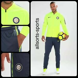 Asco novia alivio  🔥 Nike Inter De Milán 17/18 seco Squad Chándal | Hombres Tamaño S Pequeño  | 855406-706 | eBay