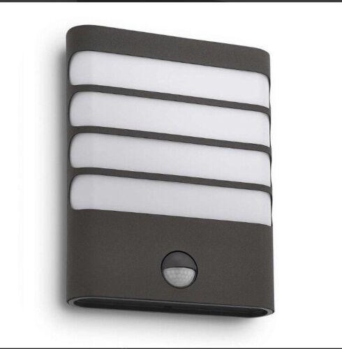 2 Philips MyGarden Raccoon Outdoor Wall Light Grey With Motion Sensor