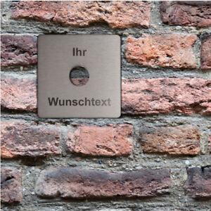Personalisierte Haustürklingelplatte aus Edelstahl Familie Name GRAVUR Türschild