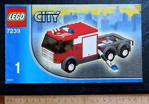Lego Bauanleitung CITY 7239-1 für den Feuerwehrlöschzug, 24 S., 2005