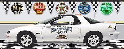 1995 CHEVY CAMARO INDY BRICKYARD 400 PACE CAR GARAGE SCENE BANNER SIGN ART 2X5