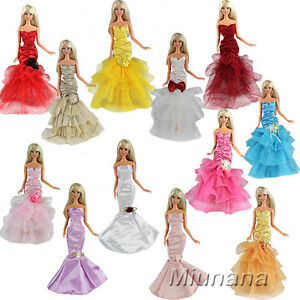 f58785fb4a8b 3 Pcs Princess Evening Wedding Party Dress Clothes Gown Outfit For ...