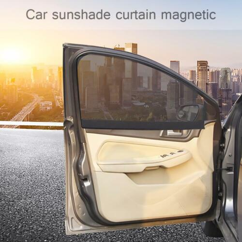 Universal Car Sun Shade Magnetic Curtain Window Front Anti-UV Sunshade Cover