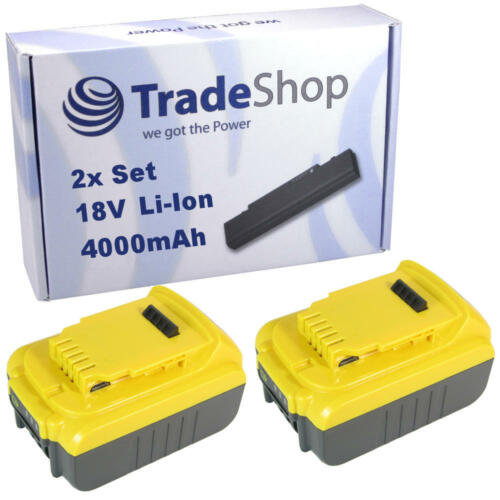 2x AKKU 18V 4000mAh Li-Ion für Dewalt DCB185 DCB203 DCB204 DCB200 DCB201 DCB201