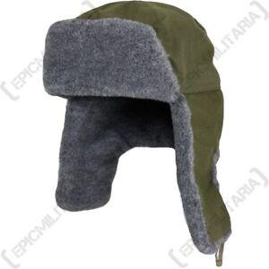 4b18f9f9e Details about Czech / Russian Ushanka Hat Olive Green - Winter Ski Fur  Soviet Surplus Military