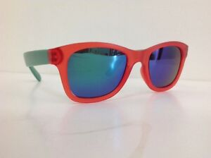 TF-Occhiale-Da-Sole-Junior-Viso-Piccolo-Wayfarer-Rosso-Verde-Lente-Specchio-Blu
